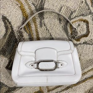 💕 Cole Haan white leather small satchel purse 💕